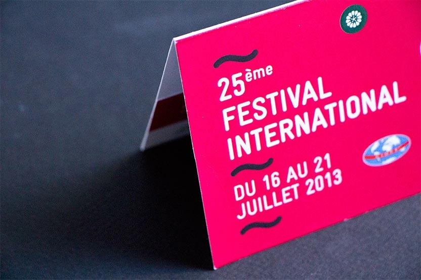 Pochette de billetterie du festival