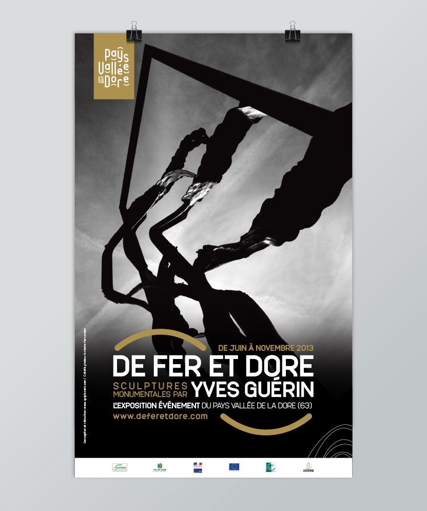 Affiche de l'exposition De Fer et Dore