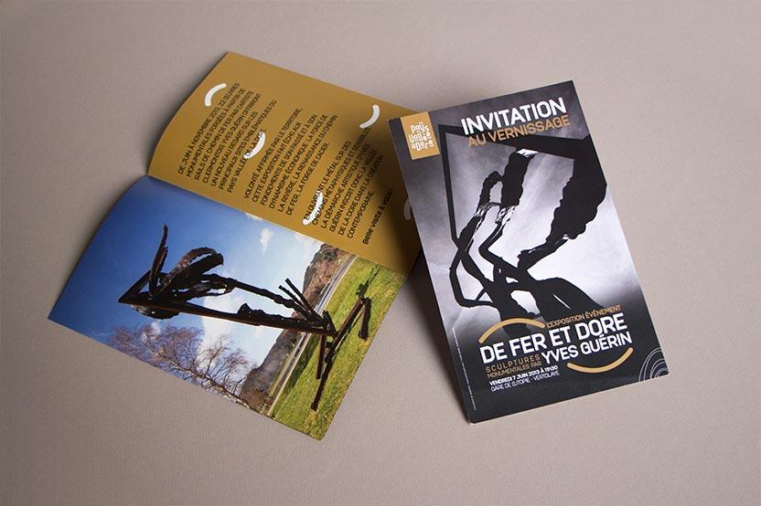 Invitation pour l'exposition De Fer et Dore