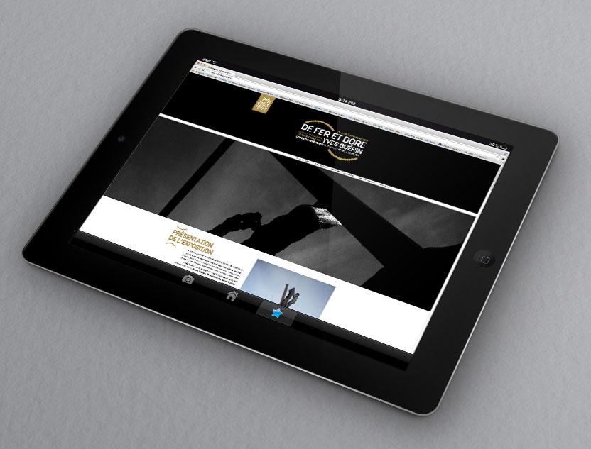 Site internet de l'exposition De Fer et Dore
