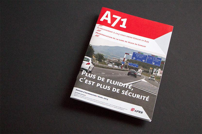 Couverture dossier d'information A71 Avril 2013