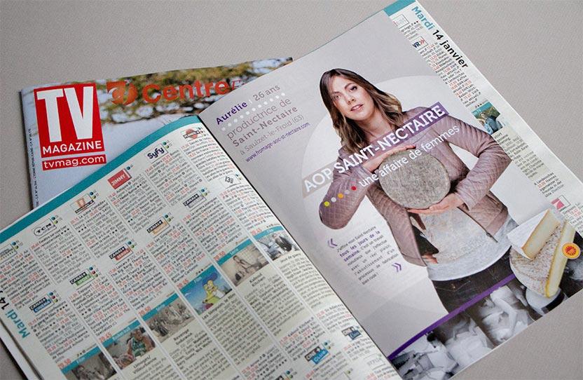 Insertion dépliant AOP Saint-Nectaire TV Magazine