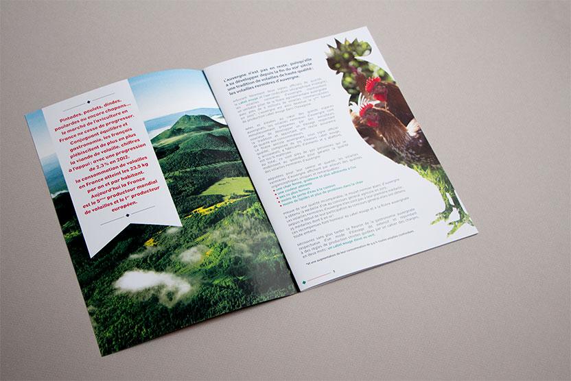 Double intérieure dossier de presse Volailles Fermières d'Auvergne 2013
