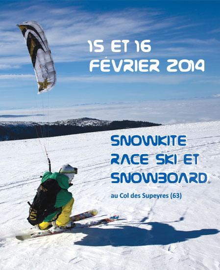 Championnat de France de snowkite : 100 compétiteurs prennent leur envol