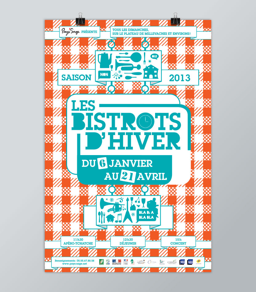 Affiche des Bistrots d'Hiver 2013
