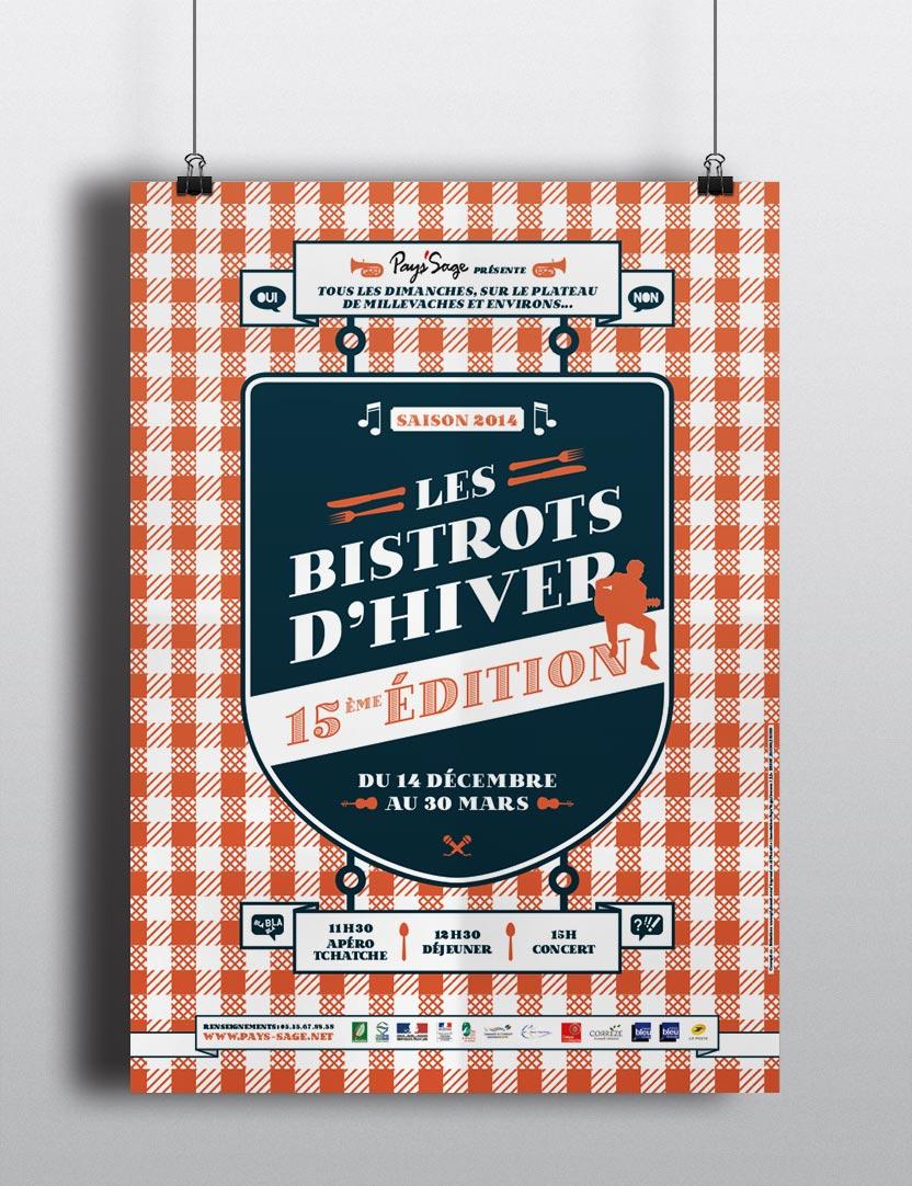 Affiche des Bistrots d'Hiver 2014