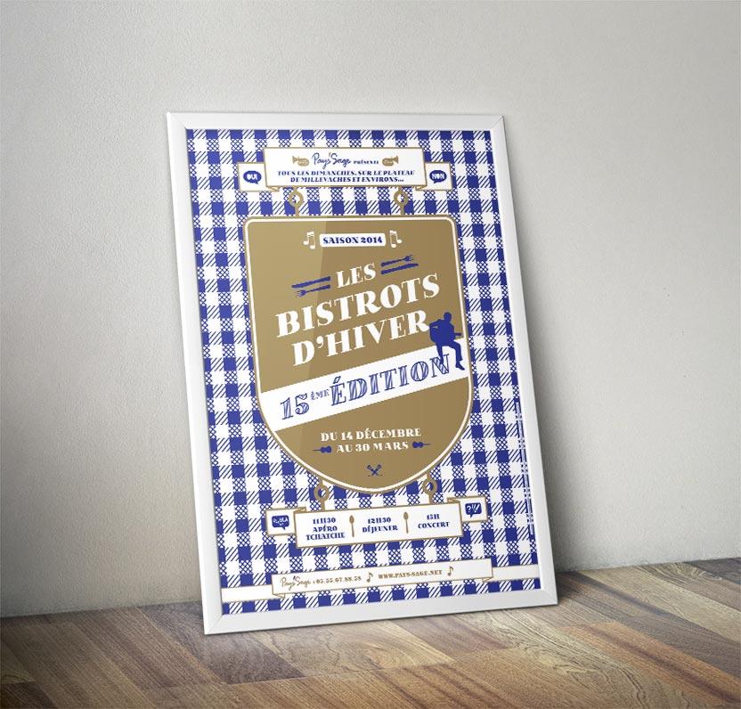 Affiche collector pour la 25ème édition des Bistrots