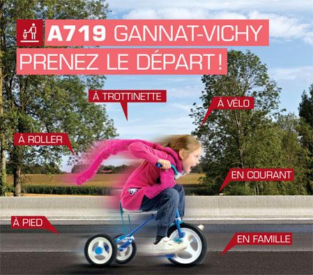 Découvrir l'A719 Gannat Vichy en modes doux !