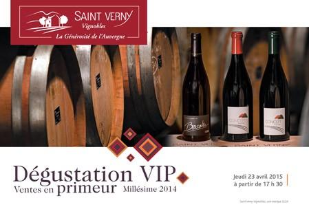 Ventes en primeur Millésime 2014 Saint Verny Vignobles