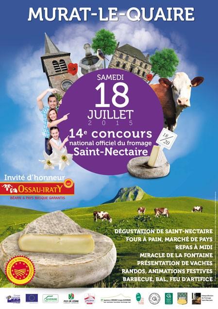 Le Concours National de l'AOP Saint-Nectaire à Murat-le-Quaire, samedi 18 juillet !