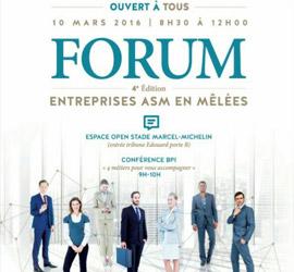 4<sup>ème</sup> édition du Forum des entreprises ASM en mêlées