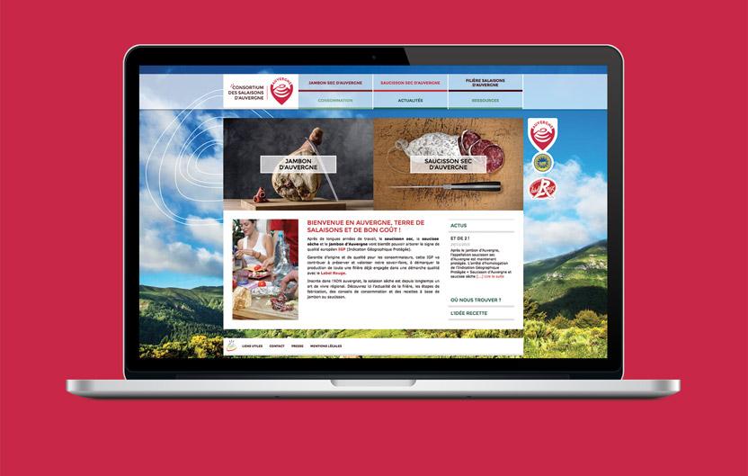 Site web responsive www.saucisson-jambon-auvergne.com