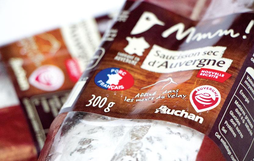 Application du logo sur packaging