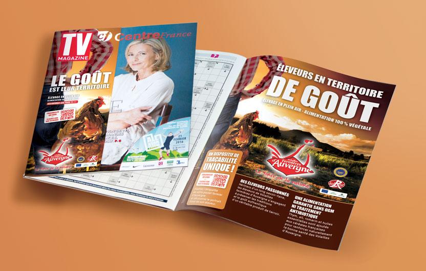 Surcouverture et page TV Magazine