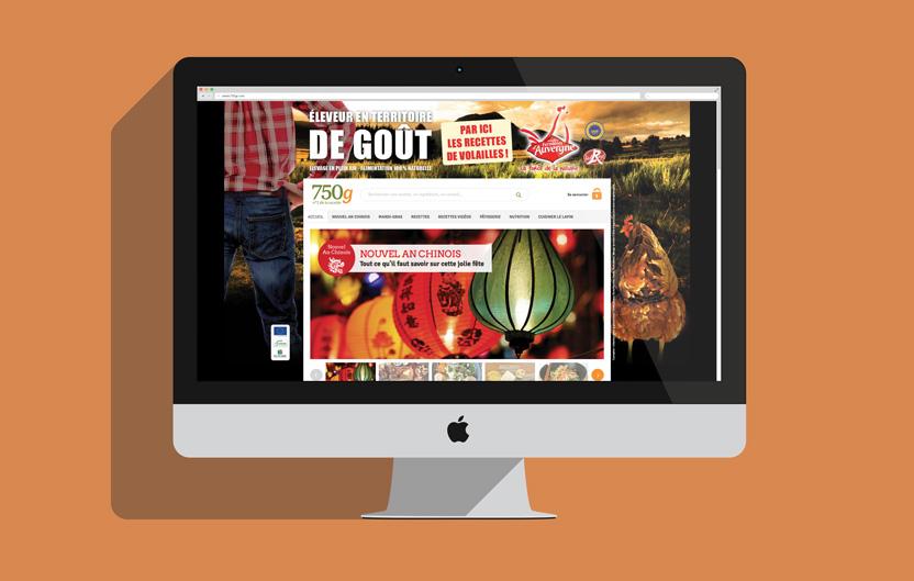 Habillage du site 750g.com