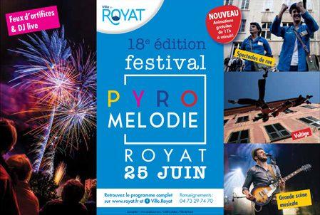 Le samedi 25 juin 2016, le Festival Pyromélodie sera de retour à Royat !