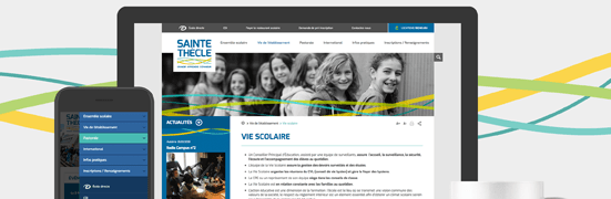 Remise en beauté pour le site internet de l'ensemble scolaire Sainte-Thècle!