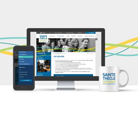 Remise en beauté pour le site internet de l'ensemble scolaire Sainte-Thècle !