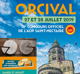Orcival accueille le 18<sup>ème</sup> Concours Officiel de l'AOP Saint-Nectaire!