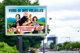 Les Volailles Fermières d'Auvergne en grand format dans toute l'Auvergne !