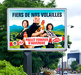Les Volailles Fermières d'Auvergne en grand format dans toute l'Auvergne!