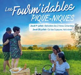 À découvrir cet été : les Fourm'idables pique-niques de l'AOP Fourme d'Ambert!
